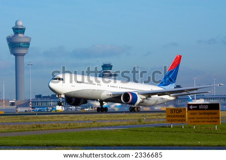 aircraft on takeoff - stock photo