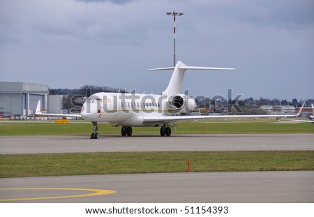 Aircraft on the ground - stock photo