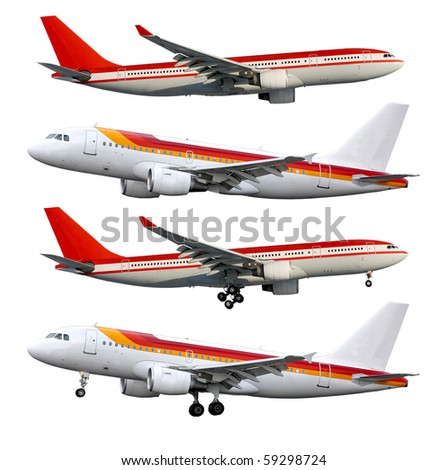 Aircraft on white - stock photo