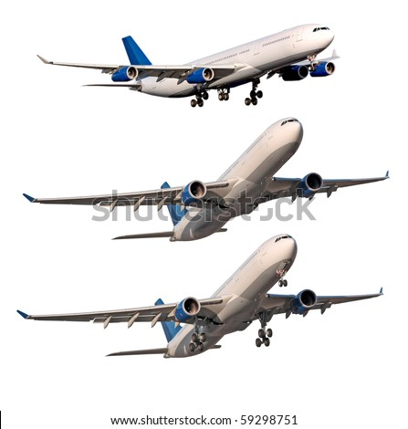Aircraft on white