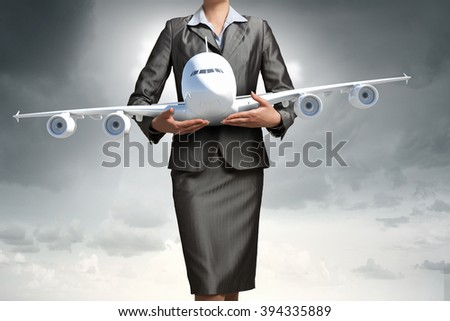 Aircraft or business travel concept - stock photo