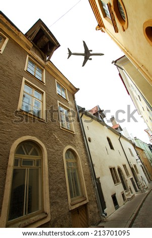 aircraft over Tallinn.