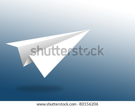 aircraft paper with blue background - stock photo