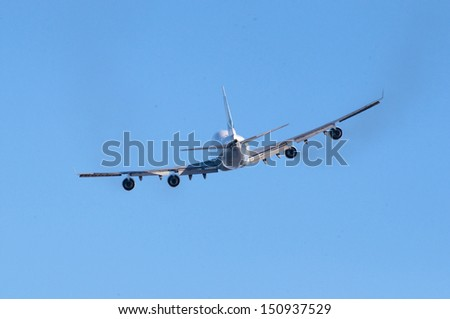 Aircraft taking off