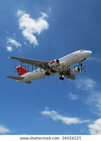 Aircraft taking off - stock photo