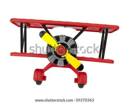 Aircraft toy isolated on white background - stock photo