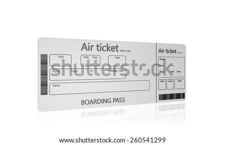 Airline boarding pass tickets on a white background - stock photo