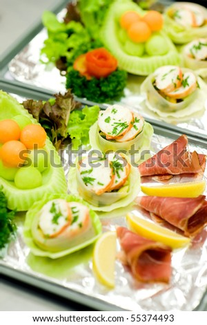 airline food - stock photo