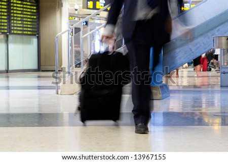 airline passenger at airport - stock photo