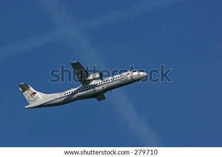 Airliner. - stock photo