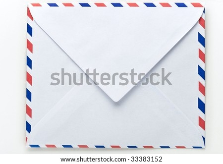 Airmail envelope - stock photo