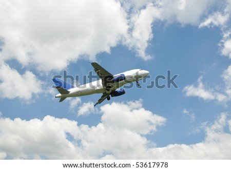 Airplane at take-off