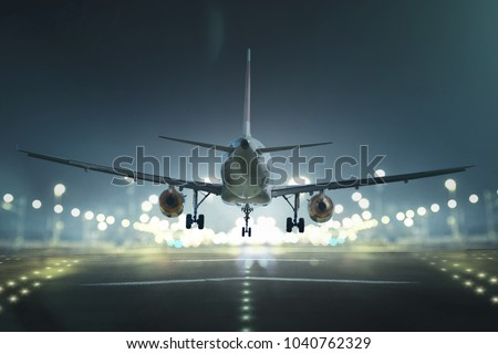 Airplane at the landing