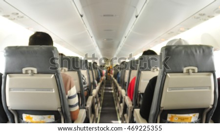 Airplane cabins image blur