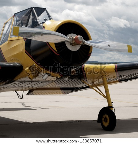 Airplane crop duster - stock photo