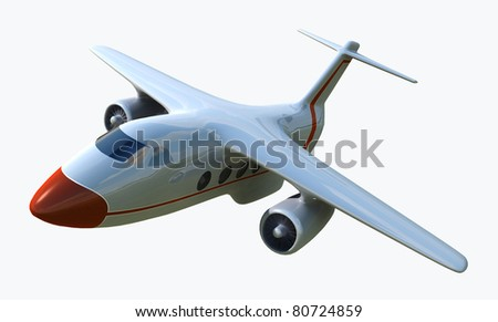 airplane 3d - stock photo