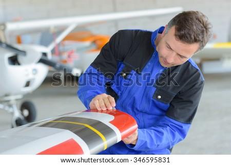 airplane design - stock photo