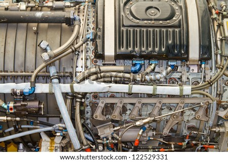 Airplane Engine - stock photo