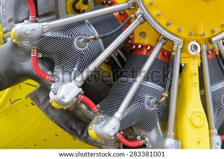 airplane engine - stock photo