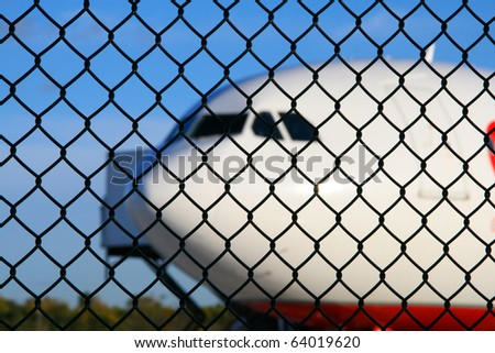 airplane fence