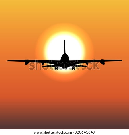 airplane flight tickets air fly cloud sky travel Raster 1 - stock photo
