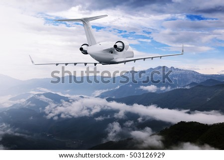 plane clouds and mountains - photo #41