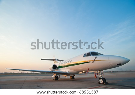Airplane for business flights - stock photo