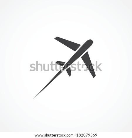 Airplane icon - stock photo