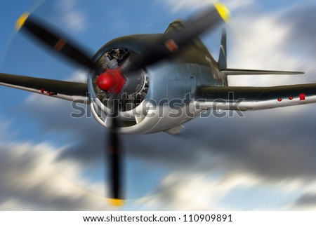 Airplane in flight. - stock photo