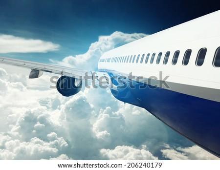 Airplane in Flight - stock photo