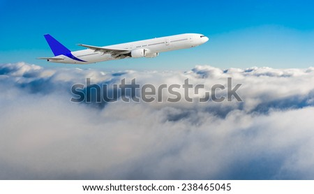 Airplane in Flight - stock photo