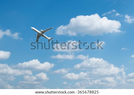 airplane in the sky