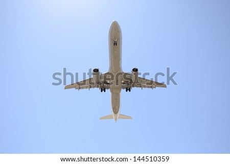 Airplane in the sky, Airbus A340