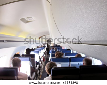 Airplane interior, kind of a background