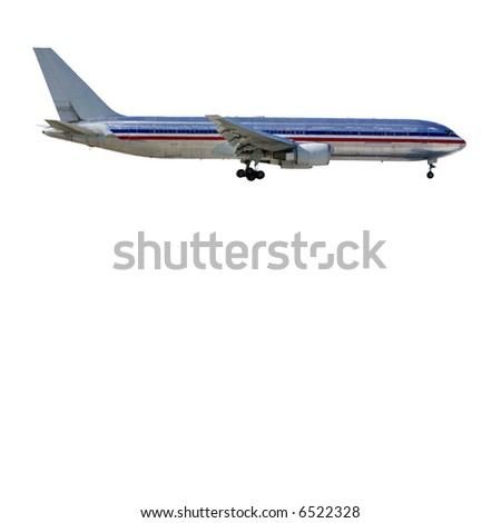 Airplane - Isolated, all names removed. - stock photo