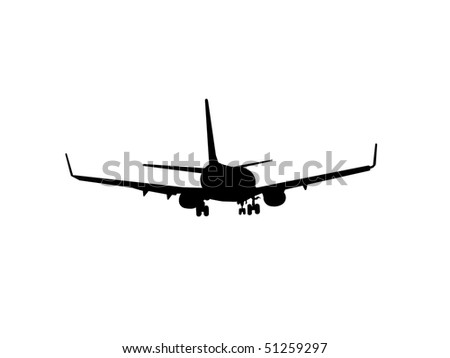 airplane isolated on the white background