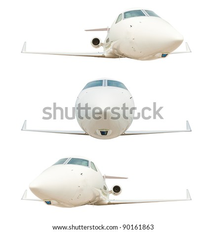 Airplane isolated on the white background - stock photo