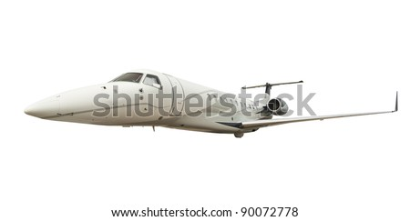 Airplane isolated on  white background with clipping path - stock photo
