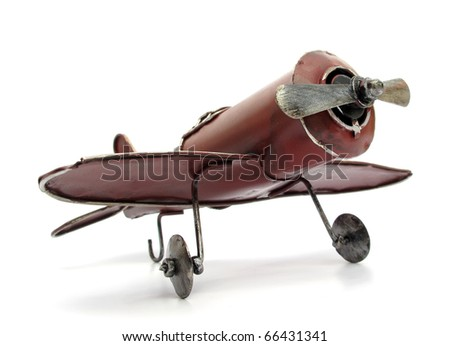 Airplane old toy - stock photo