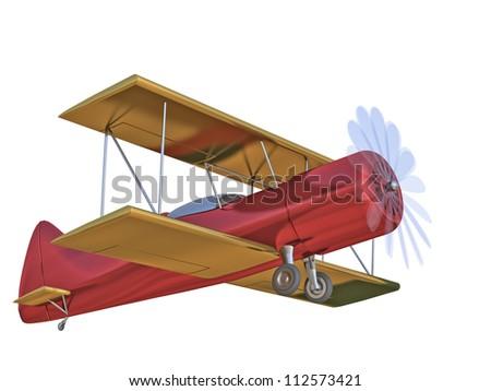 airplane on a white background - stock photo