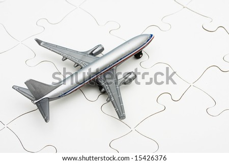 Airplane on puzzle, the problem of figuring out all the changes in flying nowadays