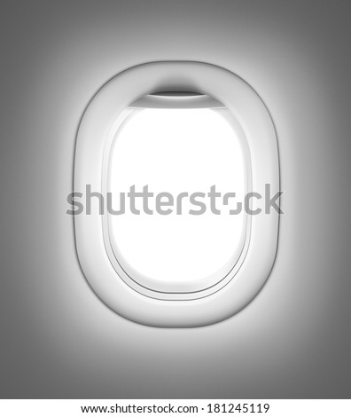 Airplane or jet gray window - stock photo
