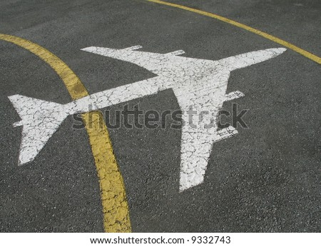 airplane painted on the ground