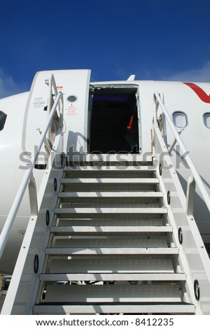 Airplane Ramp - stock photo