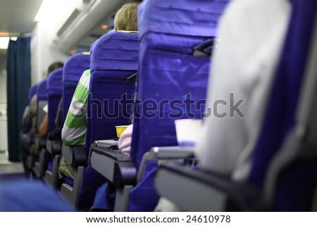 airplane seats - stock photo