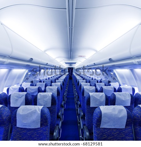 airplane seats - stock photo