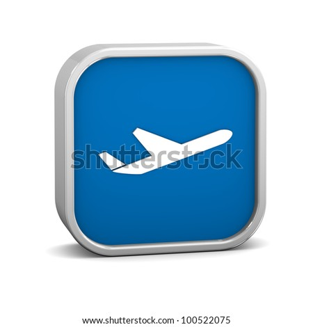 Airplane sign on a white background. Part of a series. - stock photo