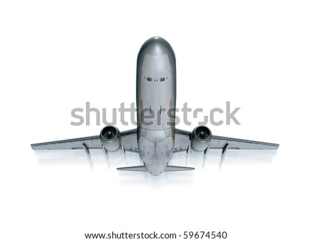 airplane take off isolated on white background