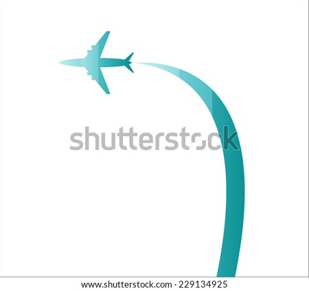 Airplane three colors - stock photo