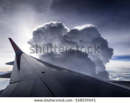 Airplane travel  - stock photo
